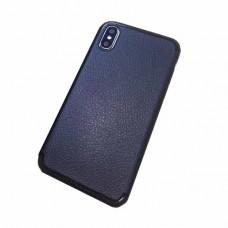 Накладка силиконовая Brauffen под кожу с глянцевым ободком для iPhone 6/6S Plus, черный