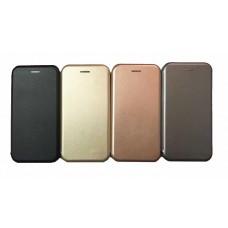 Чехол книга на силиконовой основе и магните для Xiaomi Mi Note 10 Book, с округленными краями, золотой