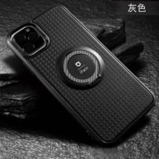 Накладка силиконовая iFace матовая с кольцом для Xiaomi Redmi Note 9 Pro, черный