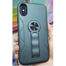 Накладка противоударная с подставкой и магнитом для Huawei Y6 (2019)/ 8A, оливково зеленый
