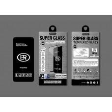Стекло защитное Brauffen 5D AAA качество (полностью на клею) в коробке для Huawei Honor 9X Lite (с отпечатком), черный