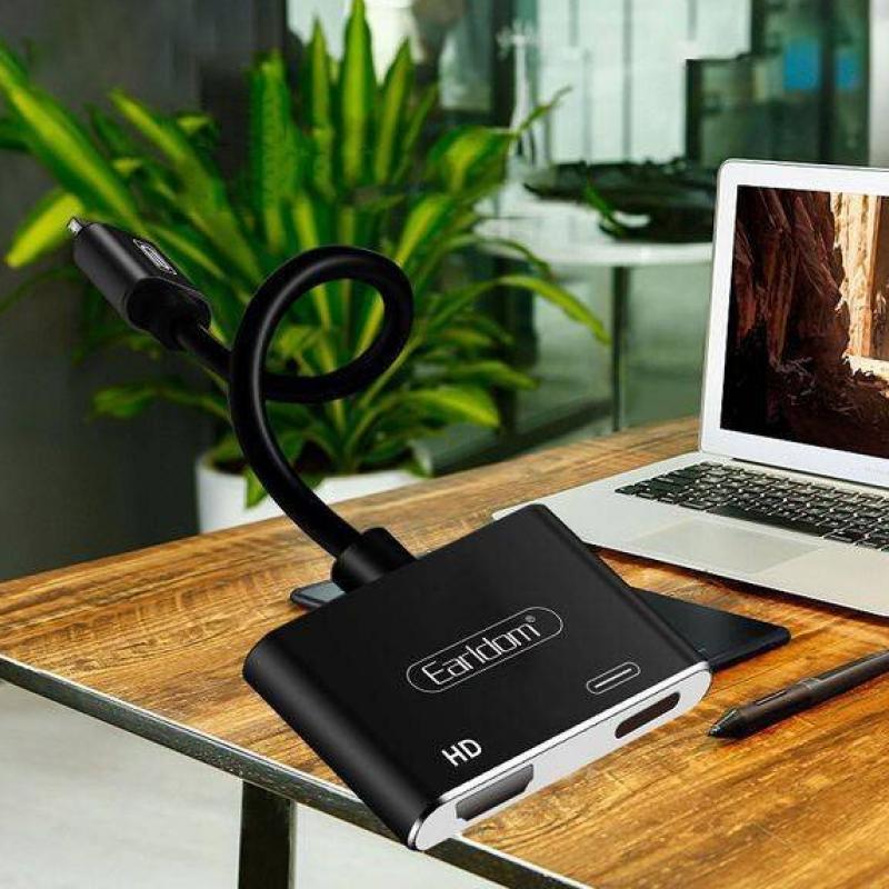 Адаптер EarlDom ET-W15 Lightning для HDMI + Type-C