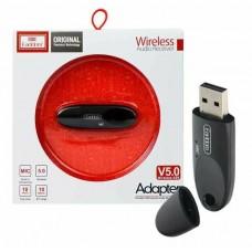 Ресивер Bluetooth для музыки Earldom ET-M40, (USB, микрофон), черный