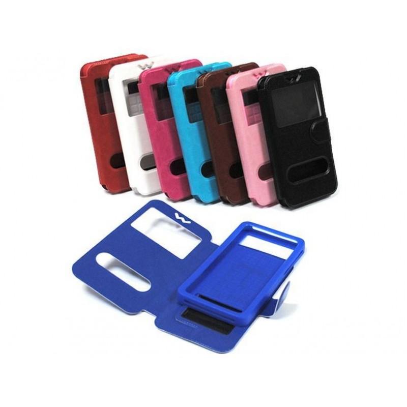 Универсальный чехол-подставка слайдер с магнитной застежкой 4.3-4.8 дюймов синий
