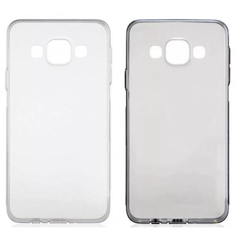 Накладка силиконовая Brauffen тонкая (отверстие для камеры под размер камеры) для Samsung Galaxy S8 Plus, прозрачно-черный
