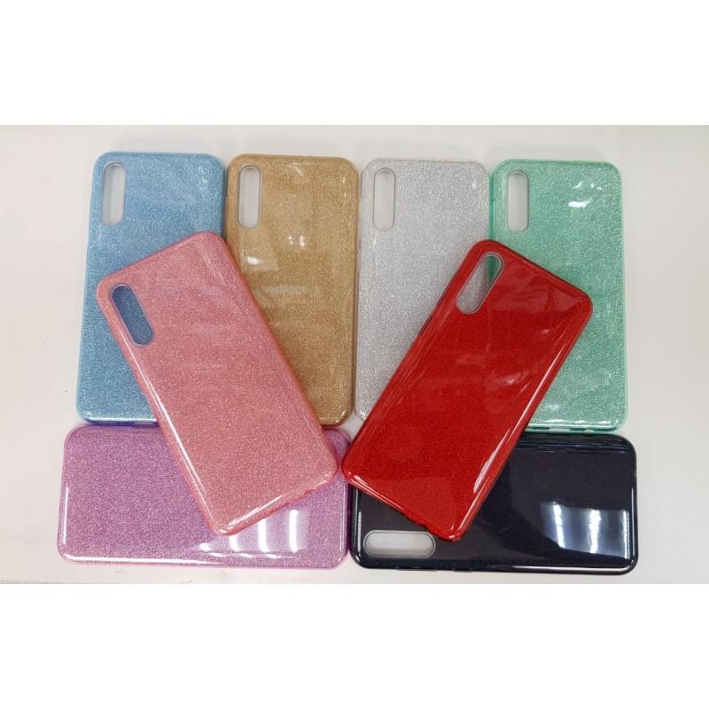 Накладка силиконовая блестящая для Samsung Galaxy A02, розовый