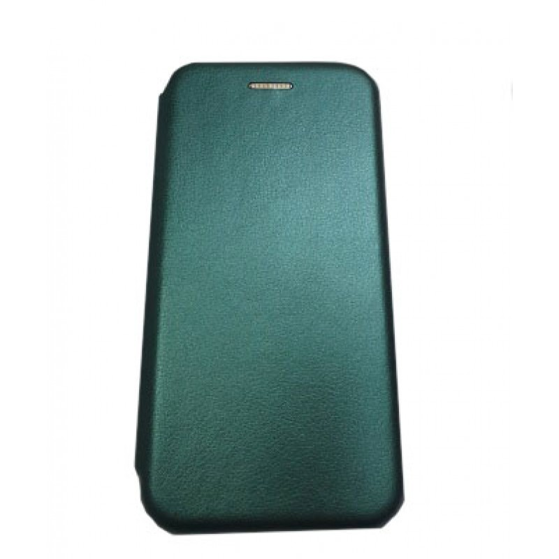 Чехол книга на силиконовой основе и магните для Xiaomi Mi11 Book, с округленными краями, темно-зеленый