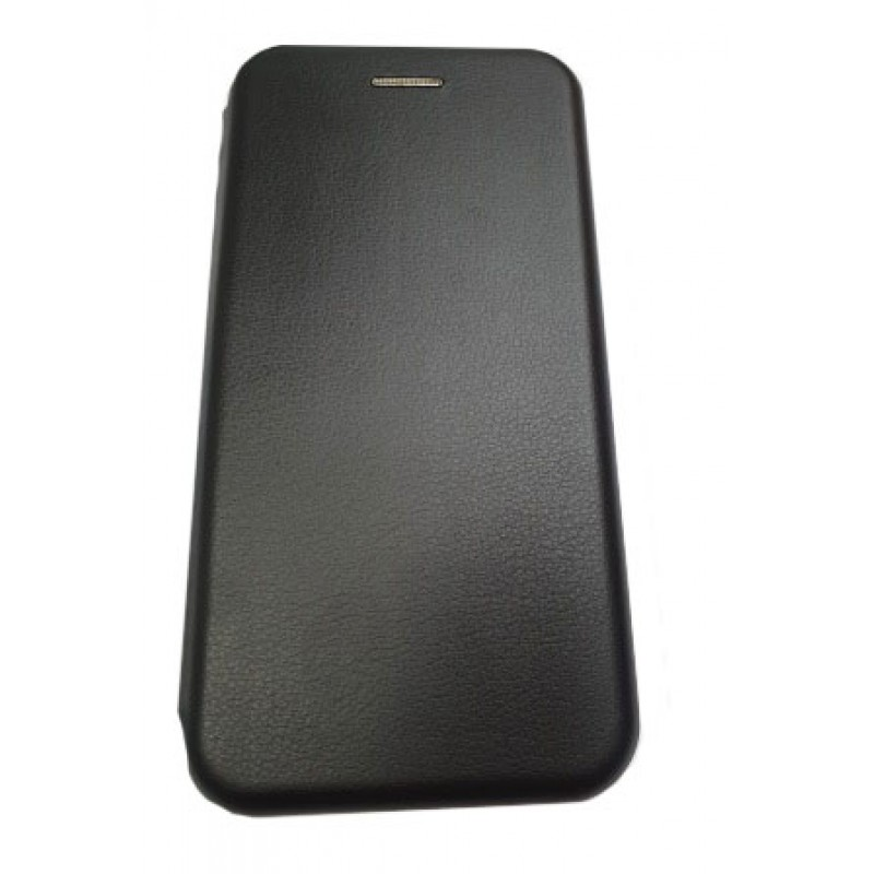 Чехол книга на силиконовой основе и магните для Xiaomi Mi11 Book, с округленными краями, черный
