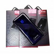 Внешний аккумулятор (power bank) Evo-999 10000mAh с дисплеем черный
