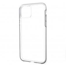 Накладка силиконовая Brauffen тонкая (отверстие для камеры под размер камеры) для iPhone 11, прозрачный