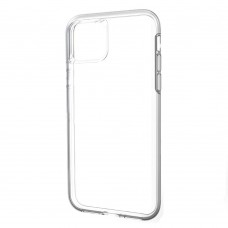 Накладка силиконовая Brauffen тонкая (отверстие для камеры под размер камеры) для iPhone 11 Pro Max, прозрачный