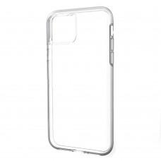 Накладка силиконовая Brauffen тонкая (отверстие для камеры под размер камеры) для iPhone 11, прозрачно-черный