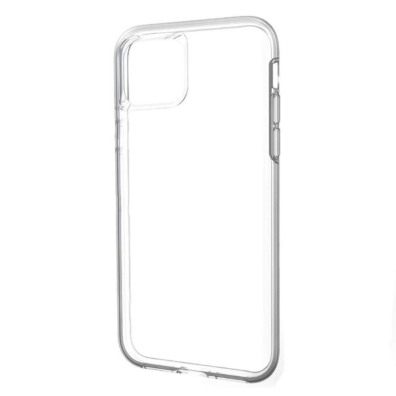Накладка силиконовая Brauffen тонкая (отверстие для камеры под размер камеры) для iPhone 11 Pro Max, прозрачно-черный
