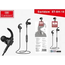 Наушники Earldom ET-BH18 Bluetooth внутриканальные с микрофоном, черный