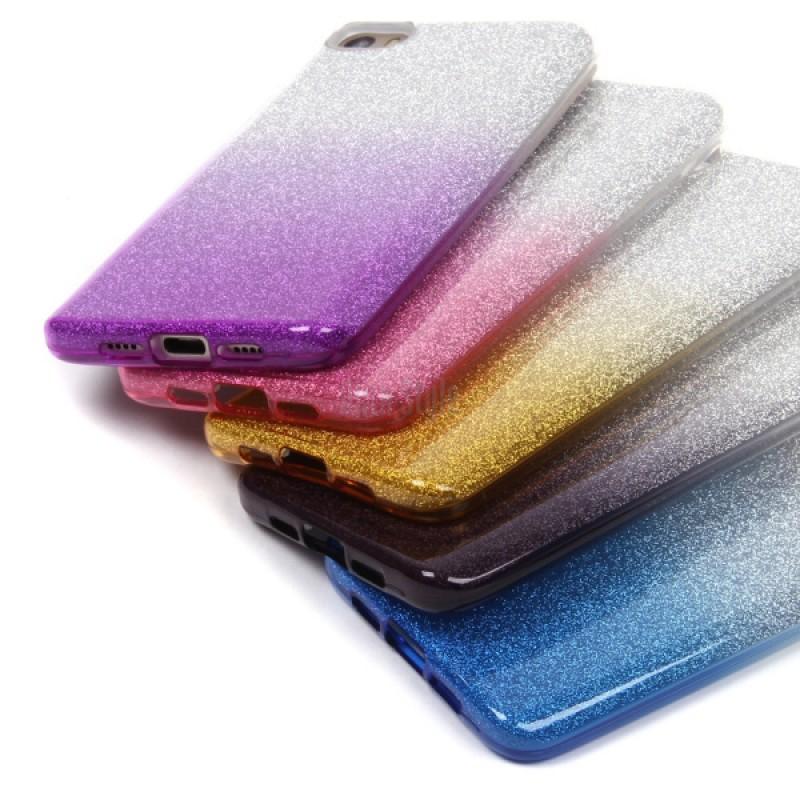 Накладка силиконовая блестящая с переходом для iPhone 11 Pro Max, золотой