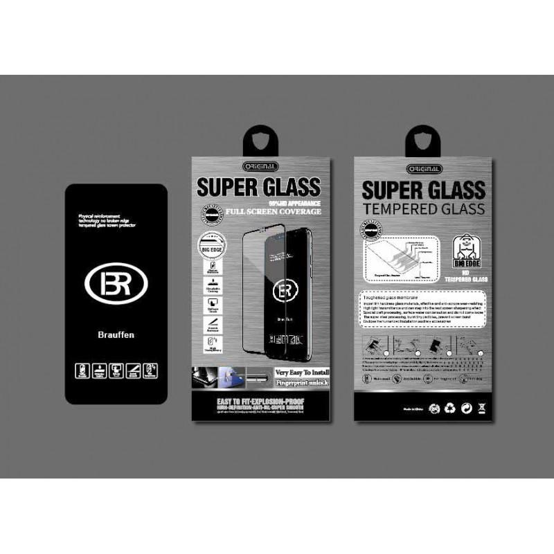 Стекло защитное Brauffen 5D AAA качество (полностью на клею) в коробке для Huawei Honor 10, черный