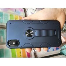 Накладка противоударная с подставкой и магнитом для Huawei Y6 (2019)/ 8A, темно-синий