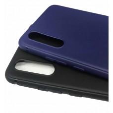 Накладка силиконовая матовая с глянцевым ободком для Vivo Y19, черный
