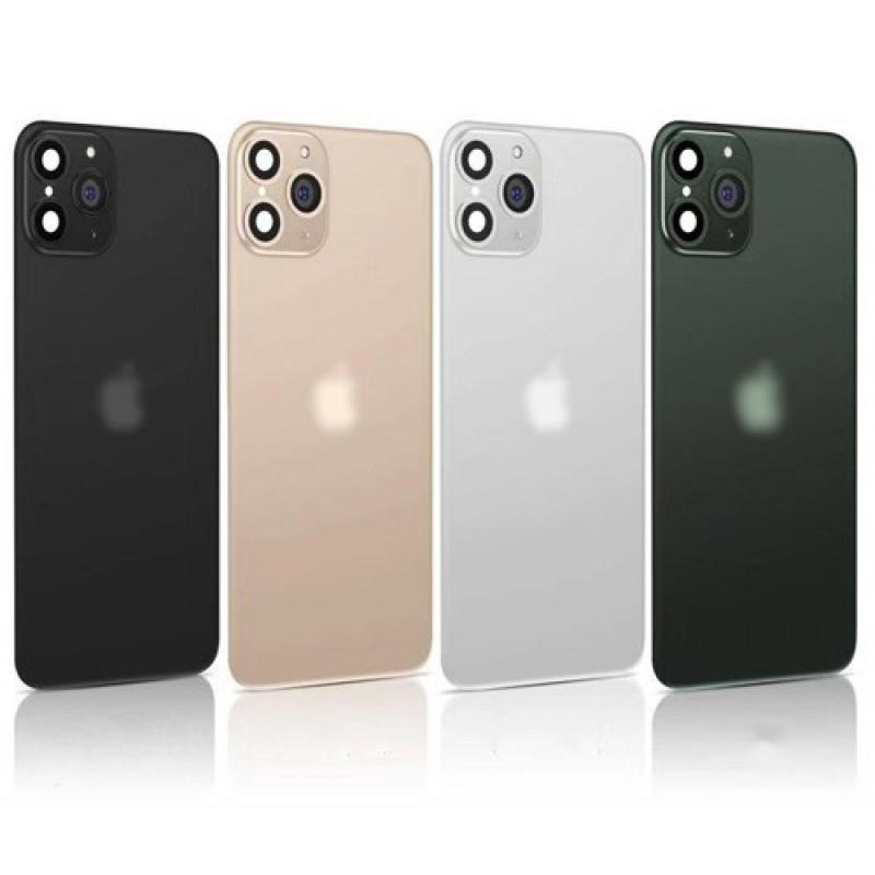 Наклейка на заднюю панель для iPhone X/XS (с имитацией камеры под iPhone 11), midnight green