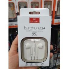 Наушники Earldom ET-E18 внутриканальные с микрофоном, белый