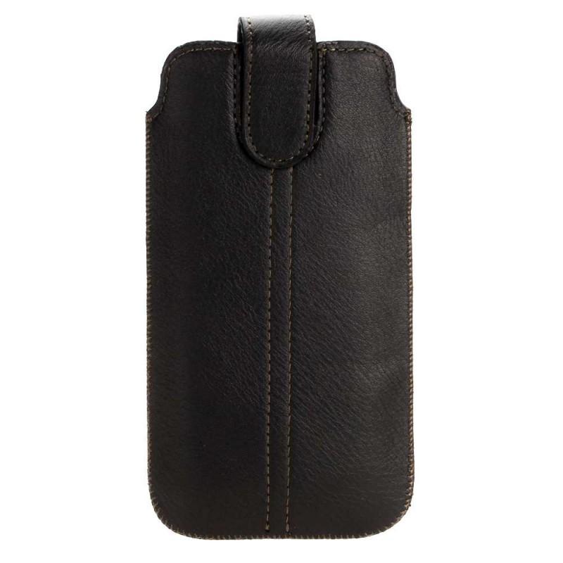Чехол с язычком липучка для Iphone 4 черный