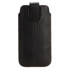 Чехол с язычком липучка для Iphone 5 черный