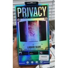 """Стекло защитное """"Антишпион"""" с нано клеем и УФ лампой в коробке для Samsung Galaxy Note 10, прозрачный"""