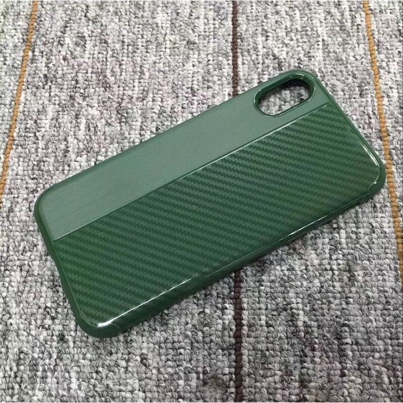 Накладка силиконовая Brauffen карбон комбинированный для Xiaomi Mi5X (Mi1A), зеленый