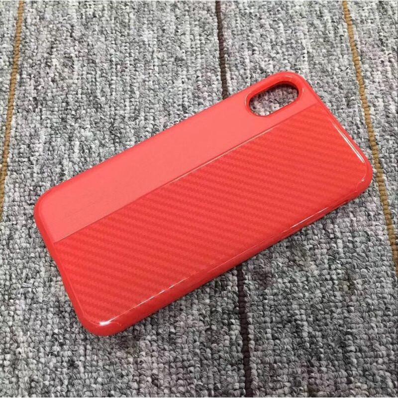 Накладка силиконовая Brauffen карбон комбинированный для Xiaomi Redmi Note 4X, красный
