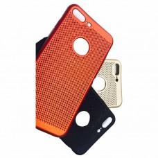 """Накладка силиконовая soft touch """"Сеточка"""" для iPhone 6/6S, черный"""