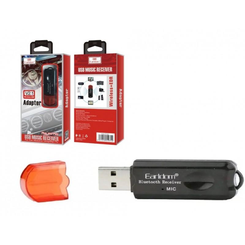 Ресивер Bluetooth для музыки Earldom ET-M24, (USB, микрофон), черный