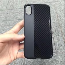 Накладка силиконовая Brauffen карбон комбинированный для Samsung Galaxy J2 (2018), черный